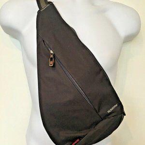 Numanni Sling Bag Grey Padded Interior Adjustable